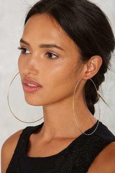 Stylish Hoop Earrings; Factory Inner Circle Hoop Earrings ($18)