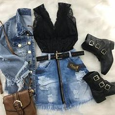 Simply Beauty Teenager Outfits Ideas For the Flawless Look - Page 18 of 46 - bestcombin Teen Fashion Outfits, Edgy Outfits, Cute Casual Outfits, Skirt Outfits, Outfits For Teens, Summer Outfits, Womens Fashion, Outfit Chic, Mode Rockabilly