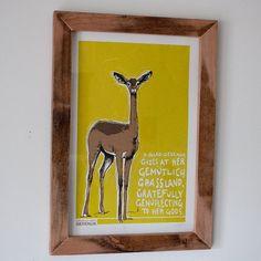 Giraffengazelle Screen Print Poster  esoterischen von corvidopolis