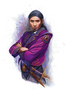 Male Human Mesmerist - Pathfinder PFRPG DND D&D d20 fantasy