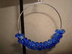 Cobalt blue cluster hoop