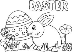 What A Fun And Easy Easter Coloring Page Great For Ages 3