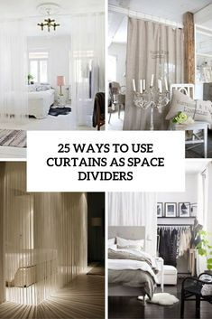 ways to use curtains as space dividers cover