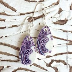 Broken China Jewelry. Broken China Earrings by CrackedUpJewelry, $45.00. Antique Mulberry broken china earrings! Perfect compliment for your classic to boho styled outfits!