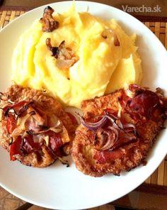 Rezníky naopak - recept | Varecha.sk Pork Recipes, Chicken Recipes, Barbecue, Mashed Potatoes, Tasty, Ethnic Recipes, Oriental Recipes, Alcohol, Barbacoa