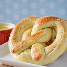 These pretzels are quick and easy to make no heading to the mall required, done in 30 minutes and no rising of the dough or boiling needed.