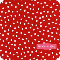 Ann Kelle for Robert Kaufman Remix Red Scatter Dots