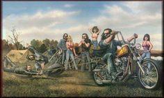David Mann Motorbiker Tshirt