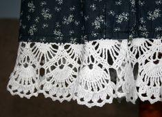 crochet lacy edge