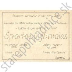 Leták, pozvánka na športový juniales. Stollwerck Bratislava