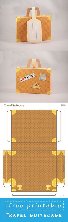 Free Printable Suitcase template. Just dowload and assemble.