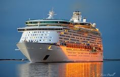 Voyager of the Seas at Port Adelaide - 28 March 2015.