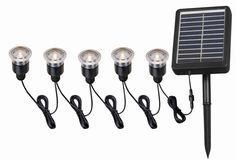 Kenroy Home 60503 Seriously Solar 5 Light Solar Lighting Black Outdoor Lighting Landscape Lighting Path Lights