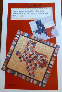 TEXAS TWIST~ PINWHEEL TWIST~MDZ019~Sewing Pattern Twister~ PT117