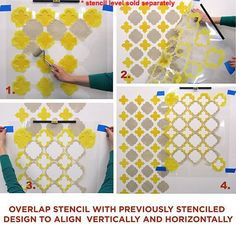 Moroccan stencil - Wall Pattern stencils for walls, backsplashes, fabrics and floors.