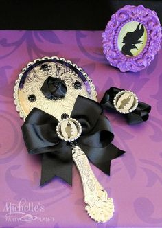 10 Maleficent Princess Hand Mirror Party Favors by PrincessMirrors, $100.00