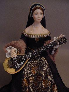 ANNE BOLEYN (Close up) Dollshouse doll by Debbie Dixon-Paver