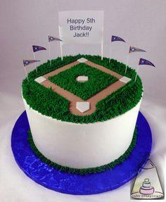 Baseball Field Birthday Cake