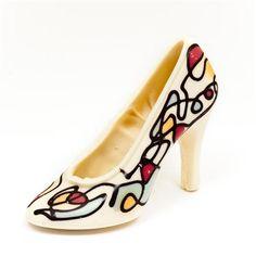 Chocorico Artist Squiggle  - chocolate shoe