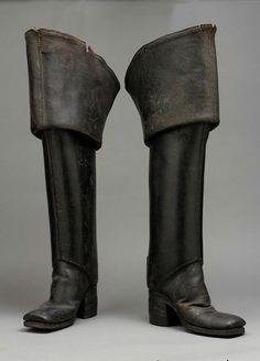 Men's boots, circa 1700-1710 via The Museum of Fine Arts, Boston
