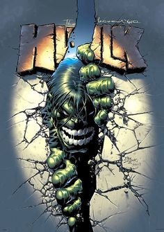 Hulk by Mike Deodato Jr. not normally a fan but his art on this cover is great