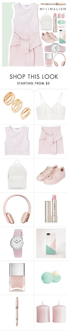 """[ Pretty Simple ]"" by demigeorgia ❤ liked on Polyvore featuring Forever 21, Chicnova Fashion, Monki, PB 0110, BOBBY, Topshop, Kreafunk, By Terry, Braun and Nails Inc."