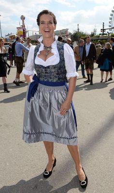 KATARINA WITT at Oktoberfest in Munich
