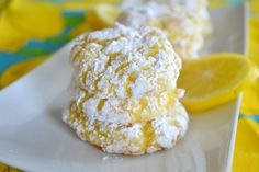 Lemon Crinkle Cookies - no added fat, just 4 ingredients!