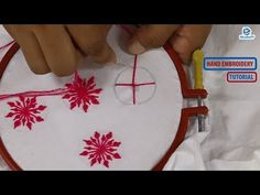 A Beautiful Hand Embroidery Flower Stitch For Nakshi Katha French Knot Embroidery, Basic Embroidery Stitches, Hand Embroidery Videos, Hand Embroidery Flowers, Hand Embroidery Tutorial, Hand Work Embroidery, Embroidery Flowers Pattern, Embroidery Sampler, Peacock Embroidery Designs