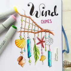 Music of the wind  Морально готовлюсь к нашему февральскому видеокурсу #letstravelsketch_oriental :))
