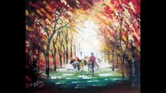 Palette knife landscape paintings by Ganesh Panda   May 17, 2015