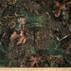 True Timber Outdoors Camouflage Ovation Mixed Pine from @fabricdotcom  This fabric is 100% spun polyester, and is water resistant. The weight is 7.2 oz. per square yard. Applications are backpacks, hunting blinds, footwear, upholstery, luggage, outdoor furniture, umbrellas, etc.