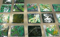 would be amazing as a rainforest mosaic piece: part sheets with large stencils of ferns and other leaves on different shades of greens, combined in one piece Fused Glass Art, Stained Glass Art, Sarah King, King Painting, Large Stencils, Mosaic Pieces, Thing 1, King Art, Glass Artwork
