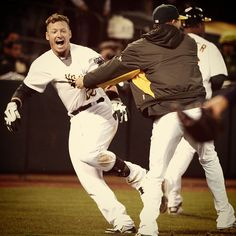 First walk off win of 2013 coming against the Tigers via Josh Donaldson