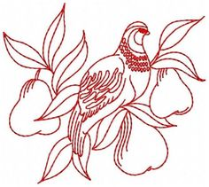 Redwork-12-Days-of-Christmas-Embroidery-Designs-CD-in-3-sizes-2-5-034-4-034-5-034-wide