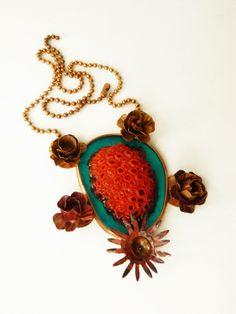 Corazón Barroco. Baroque Heart. Especial San Valentín 2014. Casa Kiro Joyas. Copper and resin