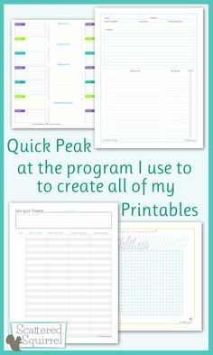 A quick look at the program I use to make the printables  http://scatteredsquirrel.com