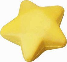 Golden Yellow Star Stress Balls add eyes to make gift for party bag