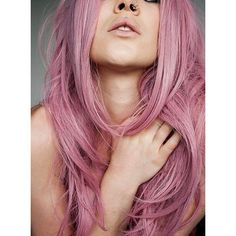 Best Champagne Pink Hair Dye LIGHT SALMON 6 Salmon Pink Hair Chalks HairChalk found on Polyvore featuring polyvore, beauty products, haircare and hair color
