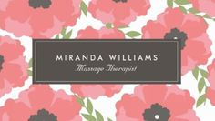 Elegant Coral and Pink Poppy Flowers Floral Massage Therapist Business Cards http://www.zazzle.com/elegant_pink_floral_business_cards-240993144314653326?design.areas=%5Bbusiness_front_horz%2Cbusiness_back_horz%5D&rf=238835258815790439&tc=GBCFloralPin