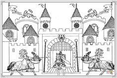 Tranh tô màu lâu đài rực rỡ cho bé hình ảnh 2