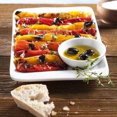 Grilované papriky s olivovým olejem