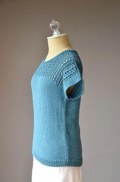 Ravelry: Blissful Tee pattern by Universal Yarn Universal Yarn, Stockinette, Drops Design, Tee Design, Summer Wardrobe, Warm Weather, Knit Crochet, Pullover, Knitting