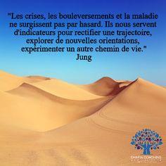 Comment utiliser les épreuves de nos vies pour nous orienter vers ce qu'il y aura de mieux pour nous. #citation #psychologie #coaching #confiance #dépassementdesoi #chafia #Jung