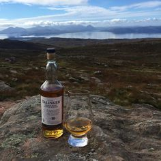 Enjoying a wee dram of Talisker on top of Bealach Na Ba looking to the #Skye island where Talisker Distillery is located  #Skye #BealachNaBa #Highlands #MPGezi #Whiskywithaview #Talisker