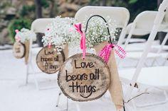 1 Corinthians marking the ceremony aisle | Crystal Stokes #wedding