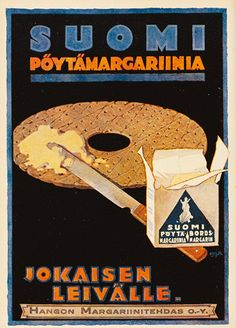 Mainos: Pöytämargariini, 1920-luku Retro Ads, Vintage Advertisements, Vintage Ads, Learn Finnish, Old Commercials, Old Ads, Vintage Travel Posters, Old Pictures, Finland