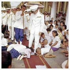 Image result for prostration to the King of Thailand
