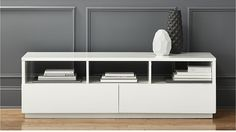 chill white media console - We think this would be a great piece for the TV media console with lots of storage!