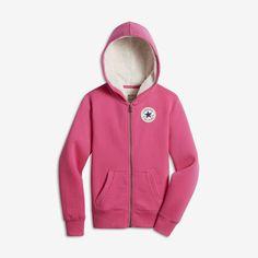 Converse Sherpa Lined Big Kids' Hoodies Pink